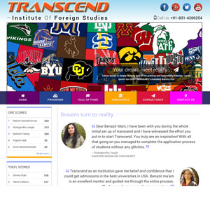 TRANSCEND - Website Preview Belgaum